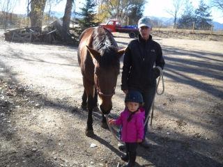 <h5>Calypso the Mustang</h5><p>In love with baby Elsa. Mom Cayla Stone looks on.</p>